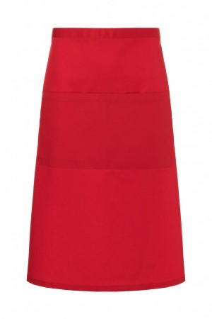 Zapaska (70x70 cm) Bistro Apron BASIC with Pocket, kolor: czerwony
