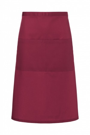 Zapaska (70x70 cm) Bistro Apron BASIC with Pocket, kolor: bordowy