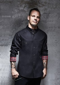 Męska bluza kucharska BUTTON-DOWN ROCK CHEF - STAGE 2