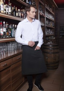 Zapaska (70x70 cm) Bistro Apron BASIC with Pocket, kolor: czarny