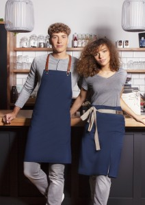 EKO zapaska Waist Apron GREEN-GENERATION from Recycled Plastic (kolor: steel blue)