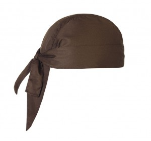 Bandana kucharska BROWN - 2 szt.