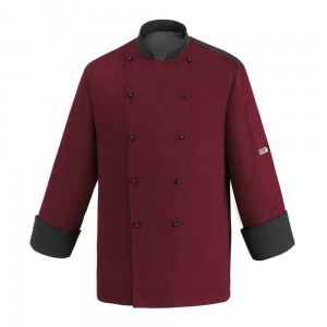 Bluza kucharska COLOR BORDEAUX